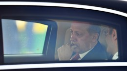 File Photo: President of Turkey, Recep Tayyip Erdogan, is pictured in a vehicle after arriving at the Hamburg International Airport ahead of the G20 summit in Hamburg, Germany. EPA, LUKAS BARTH