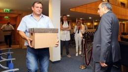 ΦΩΤΟΓΡΑΦΙΑ ΑΡΧΕΙΟΥ. Μεταφέρθηκαν από την Ελλάδα στο Κτίριο της Κυπριακής Βουλής μέσα σε 11 αριθμημένες κούτες με 134 φακέλους όλο το υλικό που αφορά τον Φάκελο της Κύπρου, Λευκωσία 13 Ιουλίου 2017. ΚΥΠΕ, ΚΑΤΙΑ ΧΡΙΣΤΟΔΟΥΛΟΥ