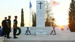Ο Πρόεδρος της Δημοκρατίας Νίκος Αναστασιάδης στην αντικατοχική εκδήλωση της επαρχίας Κερύνειας. Λευκωσία. Φωτογραφία ΣΤ. ΙΩΑΝΝΙΔΗΣ