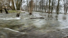 A slow exposure picture shows fooding in Hrubieszow, southeastern Poland. Rapidly rising temperatures and thaw caused flooding. EPA/Wojciech Pacewicz POLAND OUT.