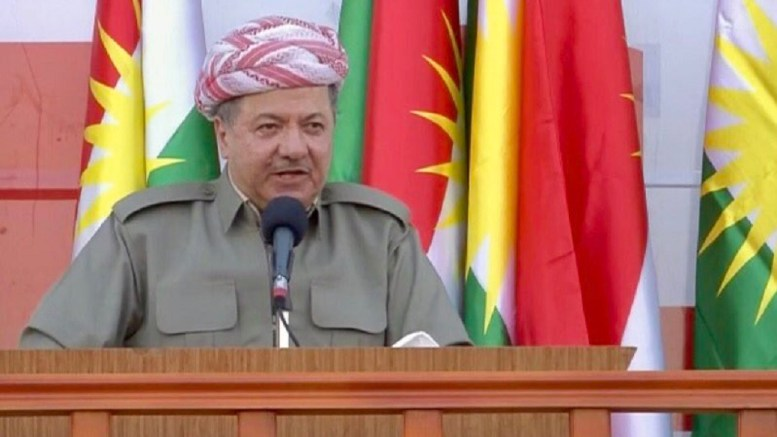 Barzani: We can no longer live with Baghdad because same mentality for years. We won't go back to same failed experience. Photo via Twitter, @mutludc
