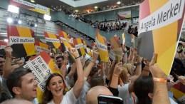 Supporters of Christian Democratic Union CDU. EPA, CLEMENS BILAN