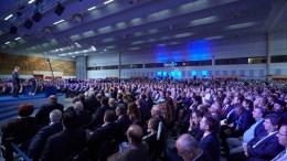 """Ο πρόεδρος της Νέας Δημοκρατίας Κυριάκος Μητσοτάκης μιλάει στους εκπροσώπους των παραγωγικών τάξεων κατά τη διάρκεια της 82ης Δ.Ε.Θ. στη Θεσσαλονίκη, το Σάββατο 16 Σεπτεμβρίου 2017, στο συνεδριακό κέντρο """"Ι. Βελλίδης"""". ΑΠΕ-ΜΠΕ, ΓΡΑΦΕΙΟ ΤΥΠΟΥ ΝΔ, ΔΗΜΗΤΡΗΣ ΠΑΠΑΜΗΤΣΟΣ"""