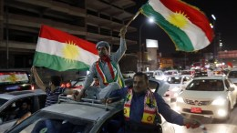 File Photo: Kurds celebrate after the announcement of the results of the independence referendum in Erbil, Kurdistan region in northern Iraq, 26 September 2017. EPA, MOHAMED MESSARA