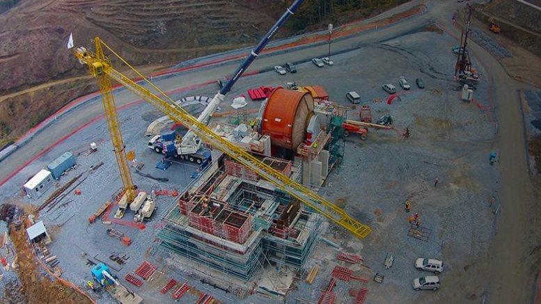 Άποψη από το εργοτάξιο της Eldorado Gold στη Χαλκιδική. Φωτογραφία Πρωτο Θέμα.