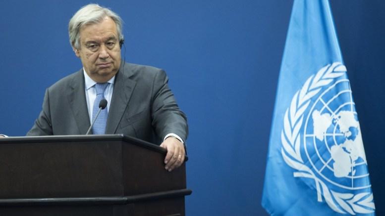 United Nations Secretary General Antonio Guterres. EPA, ATEF SAFATI