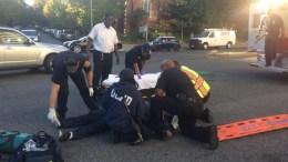 Ο τζον Κυριάκου στον τόπο του δυστυχήματος. Φωτογραφία από τη σελίδα του στο Facebook
