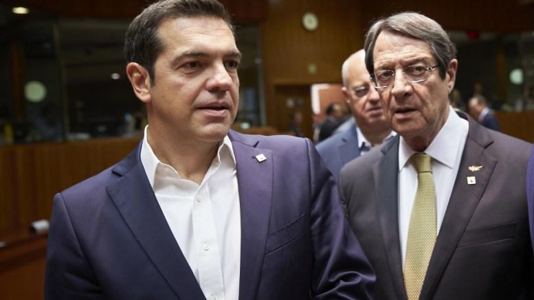 FILE PHOTO. Ο πρωθυπουργός Αλέξης Τσίπρας με τον Πρόεδρο της Κυπριακής Δημοκρατίας Νίκο Αναστασιάδη. ΑΠΕ-ΜΠΕ, consilium.europa.eu, Mario Salerno