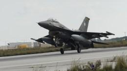 Μαχητικό αεροσκάφος F16 block 52+. ΦΩΤΟΓΡΑΦΙΑ ΑΡΧΕΙΟΥ. ΑΠΕ ΜΠΕ, ΠΕΤΡΟΣ ΠΑΤΤΑΚΟΣ