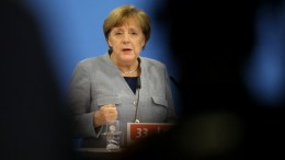 German Chancellor and leader of the German Christian Democratic Party (CDU), Angela Merkel, EPA/FOCKE STRANGMANN