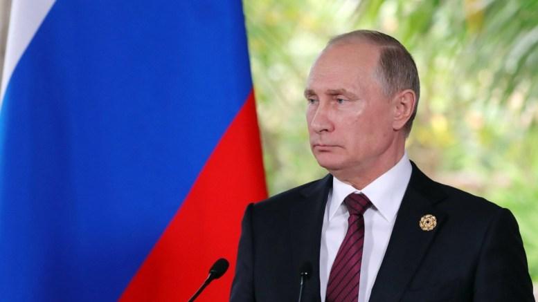 File Photo: Russian President Vladimir Putin speaks to the media. EPA, MIKHAIL KLIMENTYEV, SPUTNIK, KREMLIN POOL