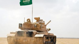 A handout photograph shows a Saudi tank. EPA/SAUDI PRESS AGENCY / HANDOUT HANDOUT EDITORIAL USE ONLY/NO SALES