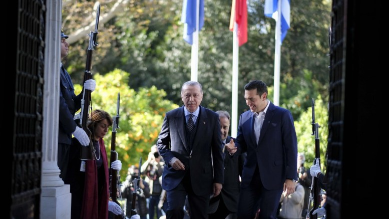 File Photo: Ο Πρόεδρος της Τουρκίας Ρετζέπ Ταγίπ Ερντογάν (Recep Tayyip Erdogan) στο Μέγαρο Μαξίμου με τον πρωθυπουργό Αλέξη Τσίπρα, Αθήνα, Πέμπτη 7 Δεκεμβρίου 2017. ΑΠΕ-ΜΠΕ, ΓΡΑΦΕΙΟ ΤΥΠΟΥ ΠΡΩΘΥΠΟΥΡΓΟΥ, Andrea Bonetti