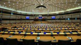 File Photo: A view of the hemicycle ahead of a plenary session at the European Parliament in Brussels, Belgium, 29 November 2017. EPA, STEPHANIE LECOCQ