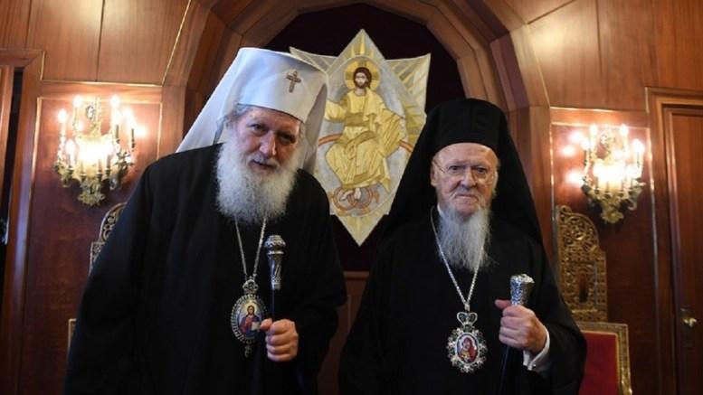 Ο Οικουμενικός Πατριάρχης Βαρθολομαίος με τον Πατριάρχη Βουλγαρίας. Φωτογραφία ΝΙΚΟΛΑΟΣ ΜΑΓΓΙΝΑΣ