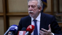 Ο υπουργός Δικαιοσύνης Σταύρος Κοντονής παραχωρεί συνέντευξη Τύπου. ΑΠΕ-ΜΠΕ/ΟΡΕΣΤΗΣ ΠΑΝΑΓΙΩΤΟΥ