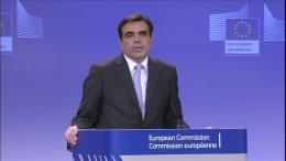 Ο επικεφαλής εκπρόσωπος της Κομισιόν Μαργαρίτης Σχοινάς. Φωτογραφία Ευρωπαϊκή Επιτροπή.