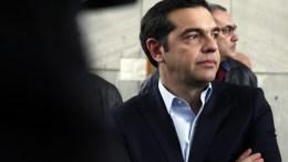 File Photo: Ο πρωθυπουργός Αλέξης Τσίπρας στο πρώτο νεκροταφείο Αθηνών για την κηδεία του Θοδωρή Μιχόπουλου. ΑΠΕ-ΜΠΕ, AΛΕΞΑΝΔΡΟΣ ΒΛΑΧΟΣ