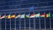 A display of flags of the Member States of the United Nations at the UN Headquarters. UN Photo, Milton Grant