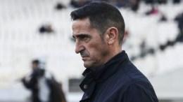 Ο προπονητής της ΑΕΚ, Μανόλο Χιμένεθ, παρακολουθεί την εξέλιξη αγώνα ποδοσφαίρου, Κυριακή 11 Φεβρουαρίου 2018. ΑΠΕ-ΜΠΕ, ΓΕΩΡΓΙΑ ΠΑΝΑΓΟΠΟΥΛΟΥ