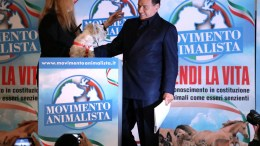 FilePhoto: The leader of the 'Forza Italia' party and former Italian Prime Minister Silvio Berlusconi (R) attends a meeting organized by the Animal Movement of Michela Vittoria Brambilla EPA, MATTEO BAZZI