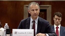 Ο Τζόναθαν Κόεν. Φωτογραφία αμερικανική πρεσβεία Άγκυρας.