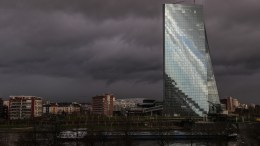 A general view of the building of the European Central Bank (ECB) under dark clouds in Frankfurt/Main, Germany, early 17 January 2018. Meteorologist predict the cloudy weather with temperatures of around two degrees Celsius to continue in the next days. EPA, ARMANDO BABANI
