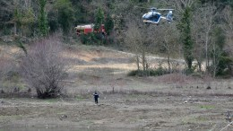 Search and rescue operation is underway among fallen debris after two military helicopters crashed, in Cabasse, near Lake Carces, southern France, 02 February 2018. At least five people have died in the crash. The circumstances surrounding the accident are still unknown. EPA,CLEMENT MAHOUDEAU