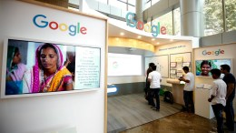 File Photo: Visitors at the Google. EPA,AGADEESH NV