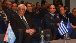 Ο Πρόεδρος της Δημοκρατίας Προκόπης Παυλόπουλος (Α) επισκέφτηκε το Αρχηγείο Τακτικής Αεροπορίας στη Λάρισα, Κυριακή 4 Φεβρουαρίου 2018. ΑΠΕ-ΜΠΕ, ΑΠΟΣΤΟΛΗΣ ΝΤΟΜΑΛΗΣ