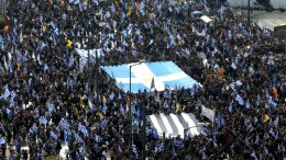 File Photo: Protesters take part in a massive rally over the name of the FFYROM against to its use of the name 'Macedonia' amid a revival of efforts to find a solution between the two countries, in Athens, Greece, 04 February 2018. EPA, BELTES ALEXANDROS