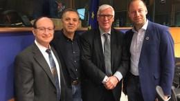 Ο Ευρωβουλευτής Κ. Μαυρίδης στη συνεδρία της Αντιπροσωπείας Σχέσεων μεταξύ ΕΕ και Ισραήλ για την τουρκική επιθετικότητα στην κυπριακή ΑΟΖ, στο Ευρωκοινοβούλιο στις Βρυξέλλες. 27/02/2018 Φωτογραφία ΚΥΠΕ