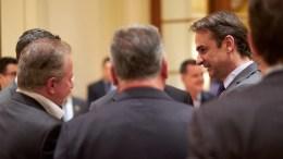 Ο πρόεδρος της Νέας Δημοκρατίας Κυριάκος Μητσοτάκης, συμμετείχε σε εκδήλωση. ΑΠΕ-ΜΠΕ,ΓΡΑΦΕΙΟ ΤΥΠΟΥ ΝΔ, ΔΗΜΗΤΡΗΣ ΠΑΠΑΜΗΤΣΟΣ
