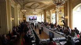 FILE PHOTO. Italian Foreign Affairs Undersecretary Vincenzo Amendola delivers his closing speech during the OSCE (Organization for Security and Cooperation in Europe) Mediterranean Conference in Palermo, Italy. EPA, FRANCO LANNINO