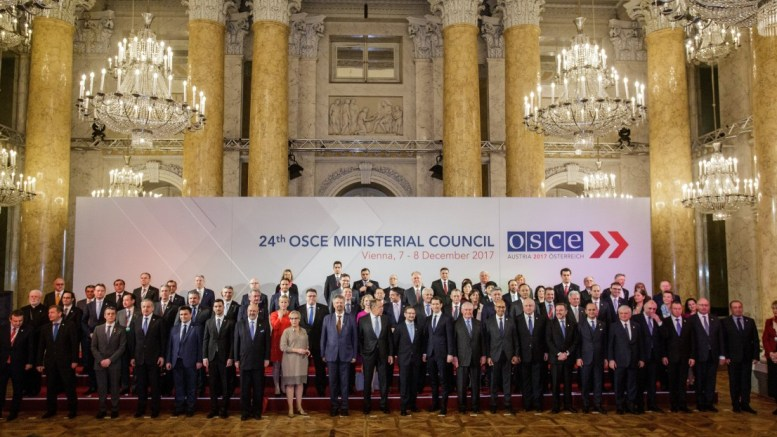 Heads of delegation of participating countries and partners of OSCE, Organization for Security and Co-operation in Europe, pose for a photograph during the 24th OSCE Ministerial Council in Vienna, Austria. FILE PHOTO, EPA, LISI NIESNER
