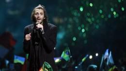 Salvador Sobral from Portugal performs after he won the Grand Final of the 62nd annual Eurovision Song Contest (ESC) at the International Exhibition Centre in Kiev, Ukraine.File Photo. EPA, SERGEY DOLZHENKO