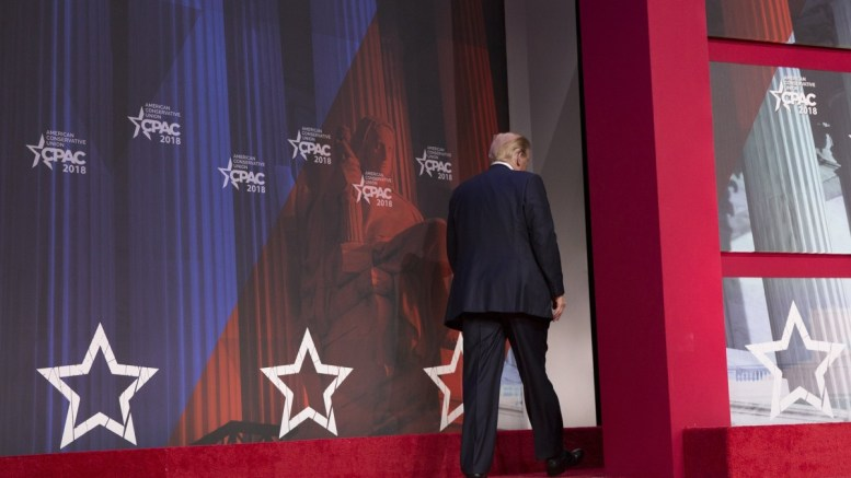 File Photo: US President Donald J. Trump leaves after addressing the 45th annual Conservative Political Action Conference (CPAC) at the Gaylord National Resort & Convention Center in National Harbor, Maryland, USA, 23 February 2018. EPA, CHRIS KLEPONIS / POOL