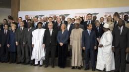 Ο πρωθυπουργός Αλέξης Τσίπρας φωτογραφίζεται με τους ηγέτες, στην Διεθνή Διάσκεψη Υψηλού Επιπέδου, στις Βρυξέλλες, Παρασκευή 23 Φεβρουαρίου 2018. ΑΠΕ-ΜΠΕ, ΓΡΑΦΕΙΟ ΤΥΠΟΥ ΠΡΩΘΥΠΟΥΡΓΟΥ, Andrea Bonetti