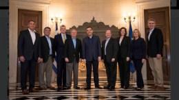 Συνάντηση με αντιπροσωπεία γερουσιαστών του Αμερικανικού Κογκρέσου στο Μέγαρο Μαξίμου. 24 Φεβρουαρίου 2018. Photo via Twitter   (@PrimeministerGR)