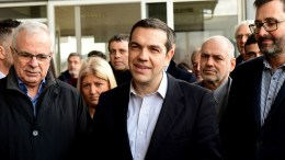 Ο πρωθυπουργός Αλέξης Τσίπρας (Κ) στις εγκαταστάσεις της Arcafroz στην Τρίπολη, Τρίτη 27 Φεβρουαρίου 2018. Ο πρωθυπουργός Αλέξης Τσίπρας μίλησε στο 10ο Περιφερειακό Συνέδριο για την Παραγωγική Ανασυγκρότηση, που έγινε στο Αποστολοπούλειο Πνευματικό Κέντρο. ΑΠΕ-ΜΠΕ, ΚΩΣΤΑΣ ΚΟΛΛΙΝΤΖΟΓΙΑΝΝΑΚΗΣ