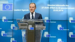 European Council President Donald Tusk gives a statement to the media. FILE PHOTO, EPA, STEPHANIE