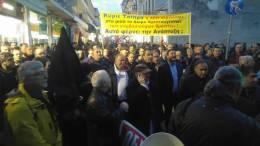 Πορεία κατά των μέτρων της κυβέρνησης λίγο πριν την ομιλία Τσίπρα - Πηγή: eleftheriaonline.gr