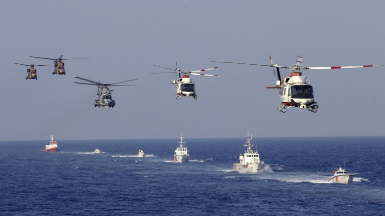 File Photo: Turkish soldiers take part in a military search and rescue exercise with helicopters and ships near Cyprus. EPA, TUMAY BERKIN