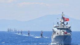 Φωτογραφία Αρχείου: Τουρκικά πλοία σε σχηματισμό. Πηγή: Turkish Navy