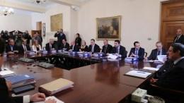 Ο Πρόεδρος της Δημοκρατίας κ. Νίκος Αναστασιάδης προεδρεύει συνεδρία του Υπουργικού Συμβουλίου με την συμμετοχή και των νέων μελών, Λευκωσία 20 Φεβρουαρίου 2018. ΚΥΠΕ,ΚΑΤΙΑ ΧΡΙΣΤΟΔΟΥΛΟΥ