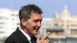 File Photo: Spanish actor Antonio Banderas (R) delivers a speech during the presentation of a business partnership between a winery from Cordoba and a bar in Malaga, in Malaga, southern Spain,. EPA, DANIEL PEREZ