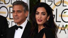 Ο Τζορτζ Κλούνεϊ και η σύζυγός του, η δικηγόρος Άμαλ Αλαμουντίν. Φωτογραφία ΑΠΕ-ΜΠΕ