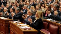 Η πρόεδρος της Κοινοβουλευτικής Ομάδας της Δημοκρατικής Συμπαράταξης Φώφη Γεννηματά στη Βουλή. ΦΩΤΟΓΡΑΦΙΑ ΑΡΧΕΙΟΥ. ΑΠΕ-ΜΠΕ, Παντελής Σαίτας