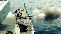 Στιγμιότυπο από άσκηση του Πολεμικού Ναυτικού της Ελλάδας. Φωτογραφία ΥΠΟΥΡΓΕΙΟ ΑΜΥΝΑΣ