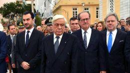 O πρόεδρος της Δημοκρατίας Προκόπης Παυλόπουλος στην Καλαμάτα. Φωτογραφία ΑΠΕ-ΜΠΕ